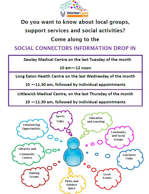 Social Connectors Information Drop In